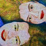 Christel Sins-Camp - portretten in textielverf - sisters